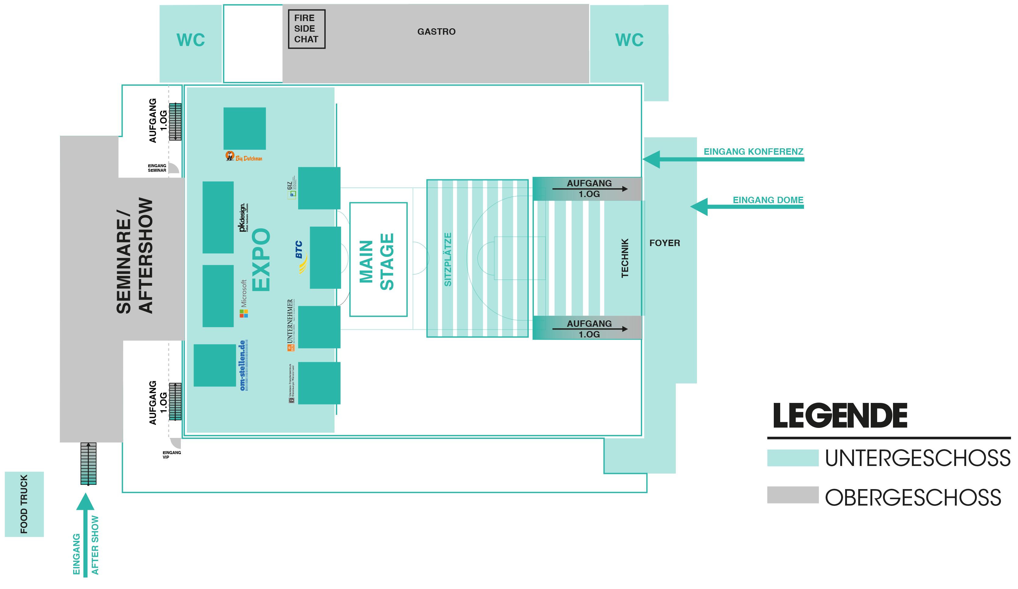 Floorplan der Villagecon 2018